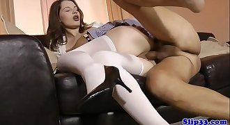 Petite british schoolgirl pounded by senior