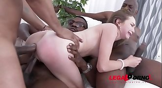 Incredible petite slut Angel Smalls - Interracial Double Anal - No Words!!