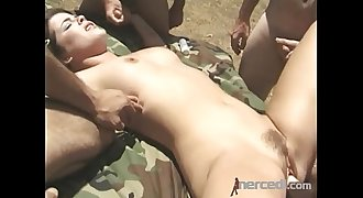 5 Guys Destroy a Teen Out Hiking Anal
